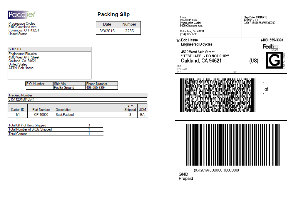 For Users That Stick With The Standard Layout, Implementation Will Be As  Simple As Adding A New Document With A New Printer Setup And The  Configuring The ...  Packing Label Template