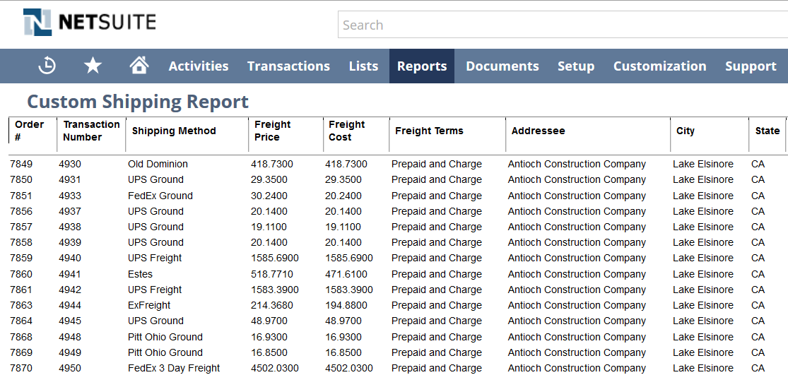 Measuring Shipment Margins with NetSuite Reporting
